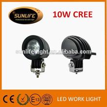 Hot selling small size 9-60V Voltage led motorcycle light Off road led working lights led headlight 10w led work light