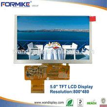 """Buen brillo 5"""" 800x480 lcd con 350cd/m2( kwh050st19- f01)"""