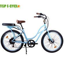 TOP E-cycle alloy frame electric beach cruiser bicycle