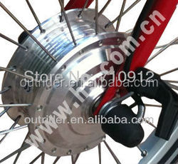 Hot sale! OR01A4 high quality front no hall 24V/36V/80mm/260RPM brushless dc motor for brompton folding bike
