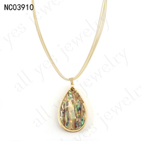 YIWU FACTORY BEST SALE fashion abalone necklace Wax rope jewelry bisuteria