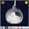 Hand blown clear christmas glass ball with white angel inside for christmas decoration