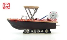 Zinc alloy Mini Boat Quartz Novelty Desk Clock