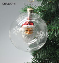 Santa Claus hotsell sell promotion decorative hanging glass balls for christmas decoration