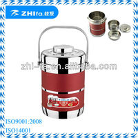 Fashion appearance stainless steel color coating thermos lunch box/bento box/hand pan