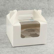 cheap white custom paper gift donut packing
