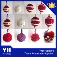 2015 Attractive Knitted Christmas Ball Xmas tree hanging ball