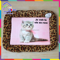 Plush printing pet sleeping cat pet pad