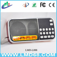 mini card portable speakers TF card, /U disk FM radio function subwoofer L-088AM