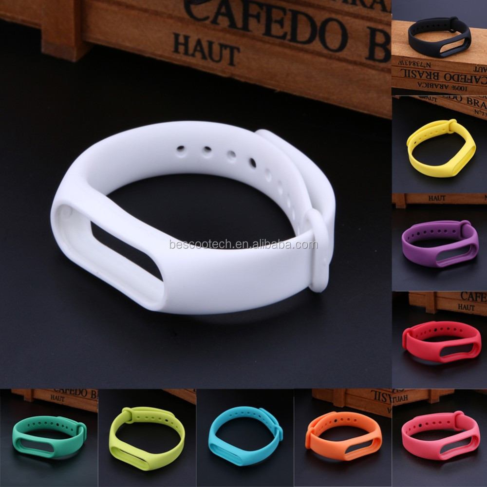Replace Strap For Xiaomi Mi Band 2 Silicone Wristbands Smart Bracelet Xiao