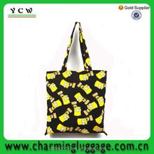 reusable foldable canvas wholesale cheap shopping bag laminated/folding fabric shopping bags