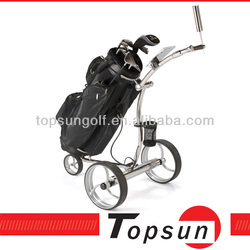Stainless steel electric lithium operated trolleys muscle golf trolley quite tubular motors