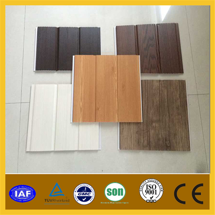 dos ranura laminado panel de pared de pvc u groove laminado panel de pared de