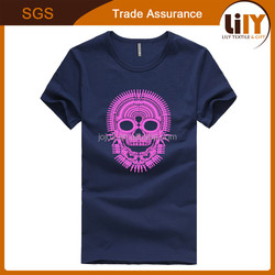 Factory directly use t-shirt plastic bag wholesale t-shirt packaging tube fashion men t-shirt cotton fabric
