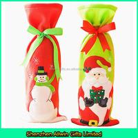 Santa Claus christmas wine bottle cover,christmas wine bottle bag