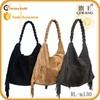2015 china wholesale suede fringe tote bag handbag fashion