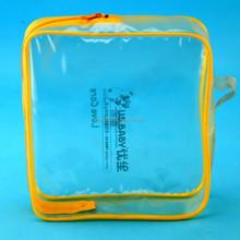 zipper clear plastic bag with zipper, hot sale travel bag