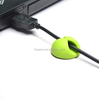 hot sales round two holes cable holder high quality multipurpose belt clip