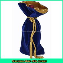 Best Sales fancy wine bottle bag velvet Christmas wine bag