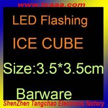 flashing colorful ice cube with led