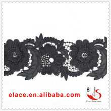 HIGH QUALITY 13CM WIDTH CHEAP MILITARY GROSGRAIN SHOE LACE WATER SOLUBLE 100%POLYESTER EMBROIDER RIBBON LACE AND TRIMS