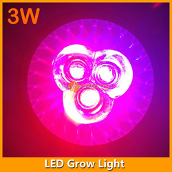 hydroponics led light grow lamp supplier 3W E27 led grow for indoor flower