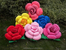 2015 Newly style rose flower pillow cushion,plush rose shaped pillow