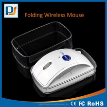 Foldable Arc Design 2.4Ghz plastic resell wireless mouse wtih mini USB Optical Wireless Mouse