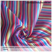 printed waterproof polyester taffeta with pu coating