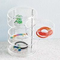 Cardboard Floor Stand 6 Pockets Bead Display Rack,