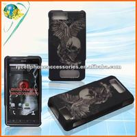 PC Rubberized crystal Cell phone case For Motorola Droid X/mb810 X2/mb870 Hard case