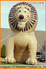 outdoor giant inflatable lion cartoon character