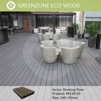 Natural style anti-slip waterproof wood composite floor outdoor synthetic wood deck