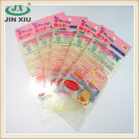 Hot sale security resealable header plastic bag for baby