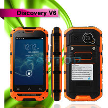 Discovery V6 Waterproof Smart phone MT6572 dual core Android 4.2 dual sim card telephone mobile
