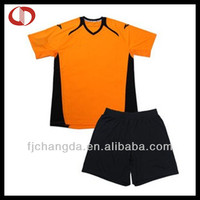 Black orange soccer jersey spain 2014