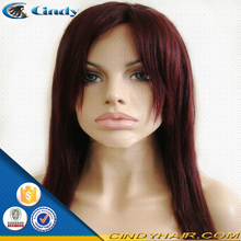 factory price wholesale cheap 99j color curly brazilian virgin remy human hair lace front wig