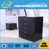 2014 hot sale ten drawer living room wooden cabinet with wicker baskets
