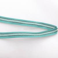 Customer sized polyester fabric ribbon