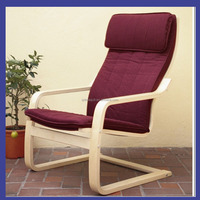 solid wood birch wood arm chair in living room