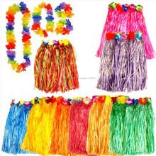 Para mujer falda HULA hawaiano guirnalda LEI LUAU verano vestido de lujo del traje LOT