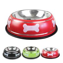 Wholesale Supreme Stainless Steel Bone Print Travel Dog Food Water Bowl