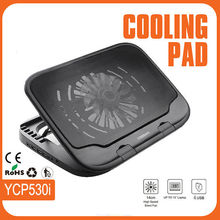 18 inch Adjustable Notebook Laptop Cooling Pad USB Cable With Removable Big Fan/4 USB Hugs/LED Light