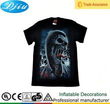 DJ-T-032 3D organic cotton hemp blank ladies plain t-shirt dress in color changing t-shirt