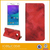 2015 Luxury Genuine Leather Phone Case for Galaxy Note5,Phone Case With Flip Leather Cover For Note 5