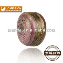 Light cooked style fashion &charm high quality lampwork glass beads from fashion brand