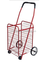 Wholesale stainless steel shopping trolley cart / folding shopping cart with wheels