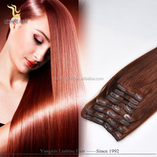 2015 factory price hot sale!!! double weft full head full cuticle clip-on human hair bang