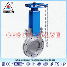 QB WCB Chain Wheel Actuator knife Gate Valve for Pulping