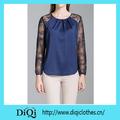 China alibaba caliente cordón satinado blusa de las mujeres/superior/fábrica de ropa de moda